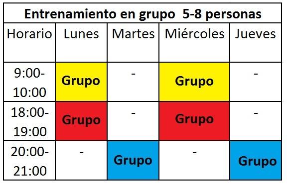 horarios grupo